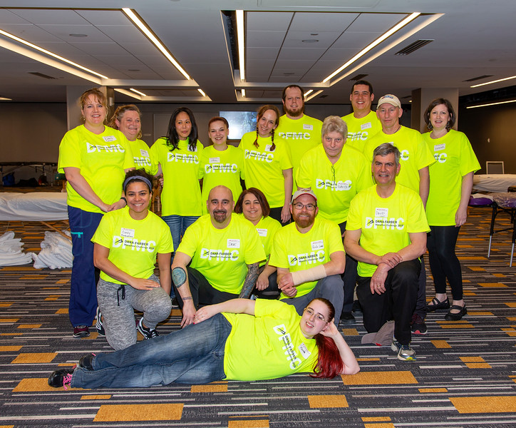 2018 Dana-Farber Marathon Challenge, Recovery Zone at Boston Marriott, Copley.