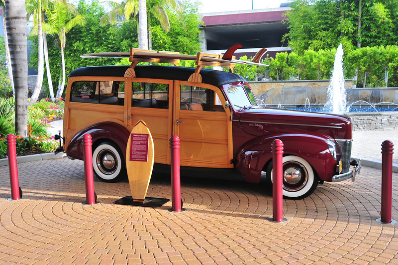 1940 Ford Woodie at the Laguna Cliffs Resort and Spa.