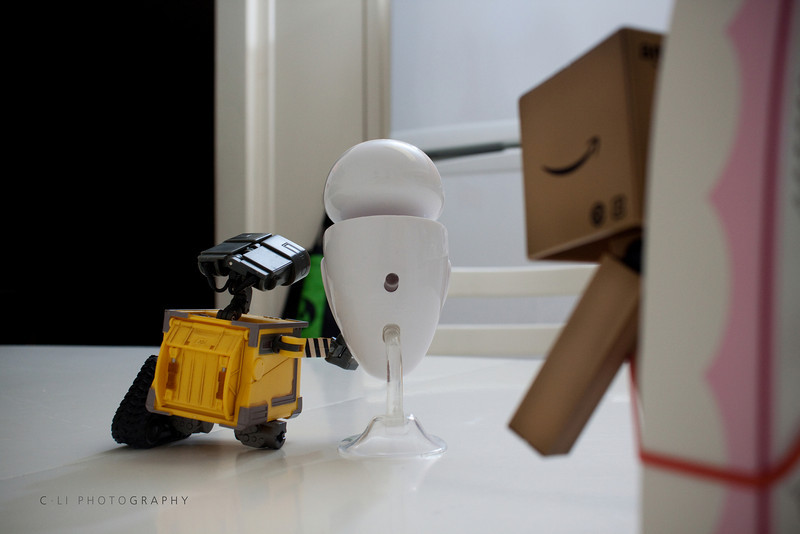 danbo: wall-e !!! happy... ...