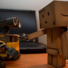 danbo: let's hold hands<br /> wall-e: wall-eee!!