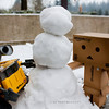 snowman complete..!!<br /> danbo: we don't really have any snowman parts.. but we do have....<br /> wall-e:.. wall-e.........?