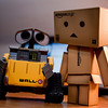 danbo: hey do you want to be my friend?<br /> wall-e: wall-eee?