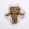 Danbo Makes a Snow Angel