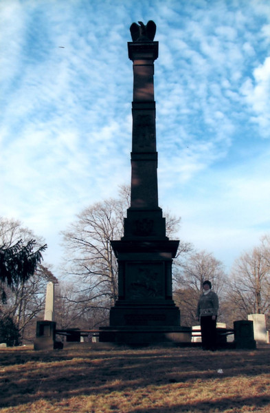 View of the monument over Wooster's grave