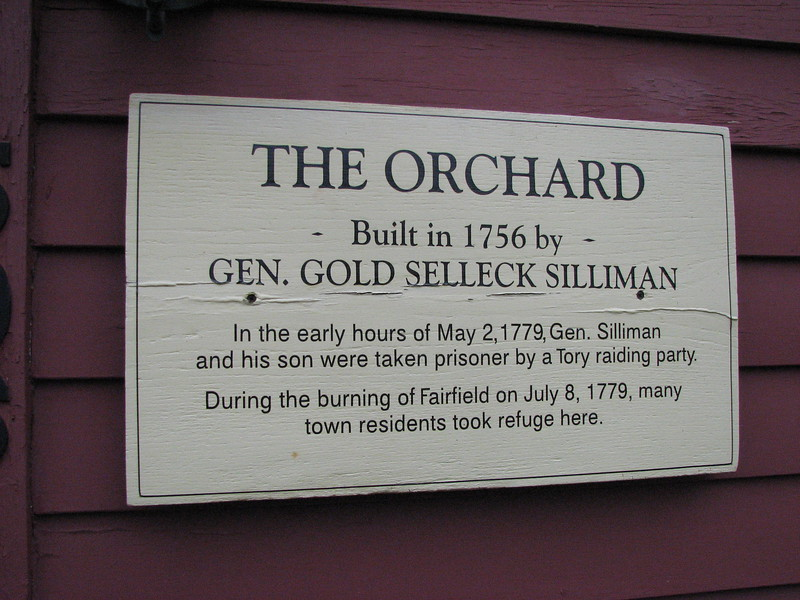 Sign on the front of the house
