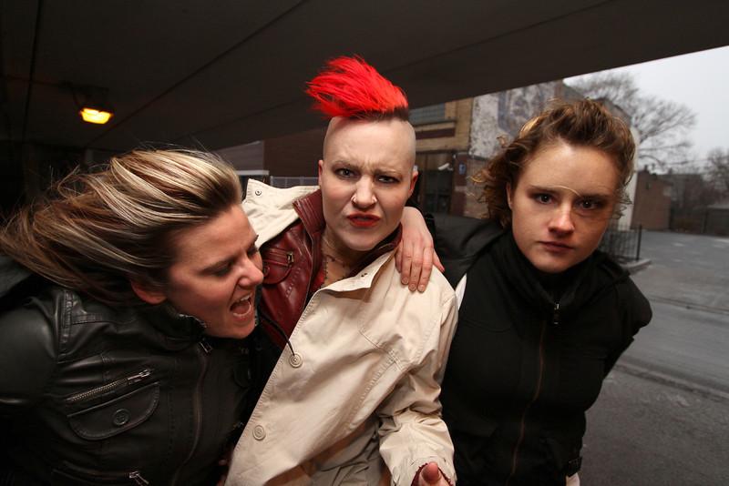 BONEdanse choreographers Melissa Ganser, Atalee Judy, & Megan Klein. Photo by Carl Wiedemann 2013.