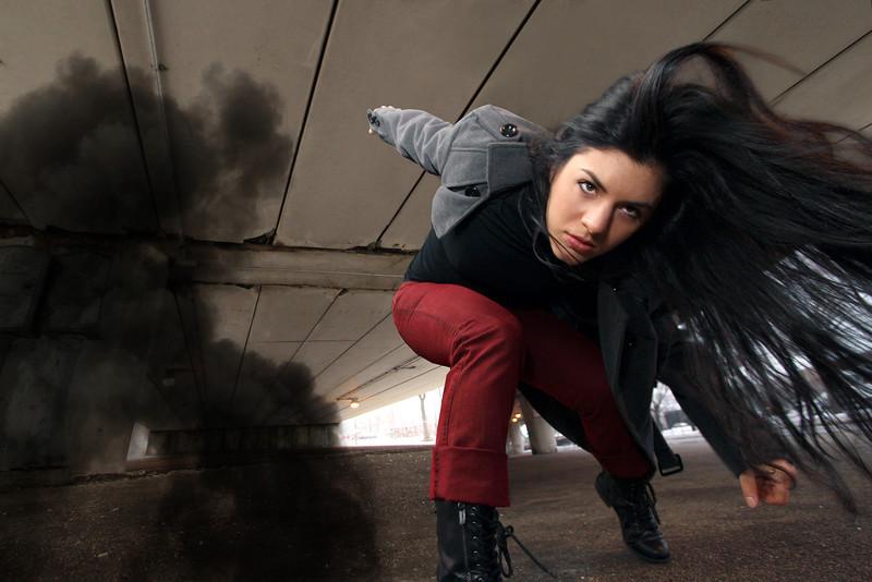 bully.punk.riot.'s Maria Macsay. Photo by Carl Wiedemann 2013.