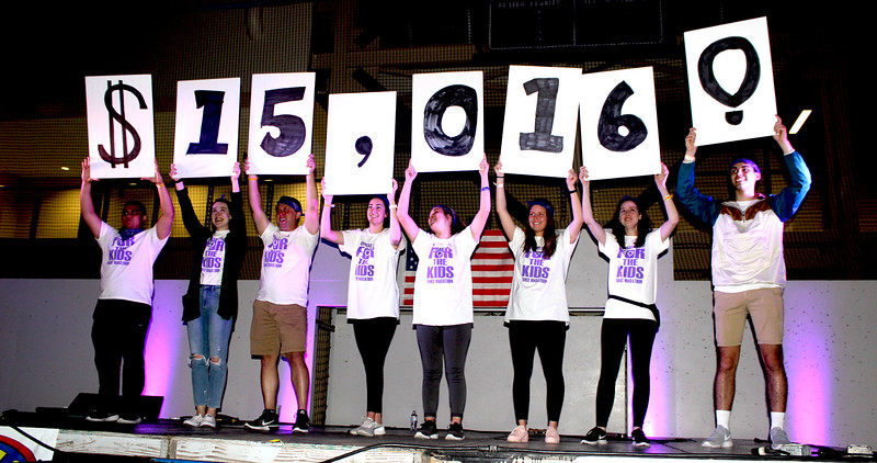 The final reveal of the amount of money raised from the dance marathon. (MOLLY HACKETT | COLLEGIAN MEDIA GROUP)