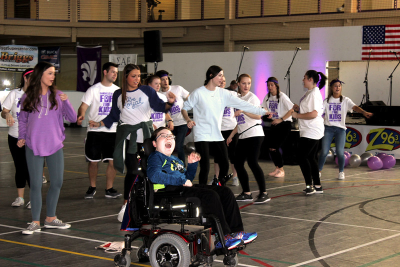 Jarrett, one of the miracle children is enjoying Zumba with some of the other participants. (MOLLY HACKETT | COLLEGIAN MEDIA GROUP)