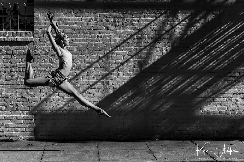 This image of professional dancer Ashleigh Wilson won Sixth Place in the Pas de Deux Dance Photography Competition, On-Location category.