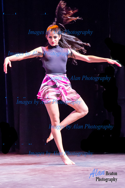 Melany from Grupo America performing a contemporary piece
