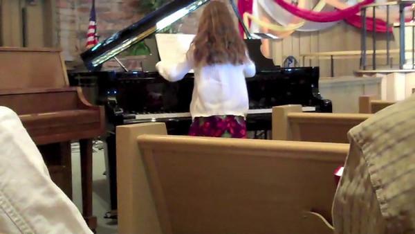 "Elyse Folkman playing ""Star Wars"" and ""Persian Market"""