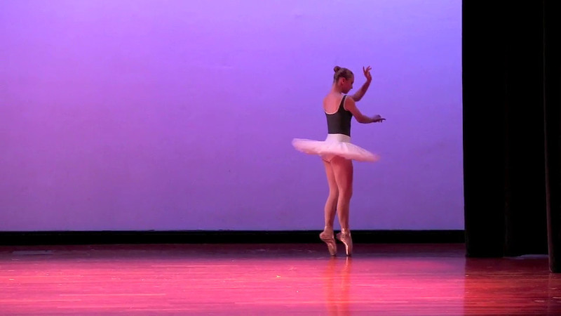 "Kelli's first solo: ""Dying swan"""