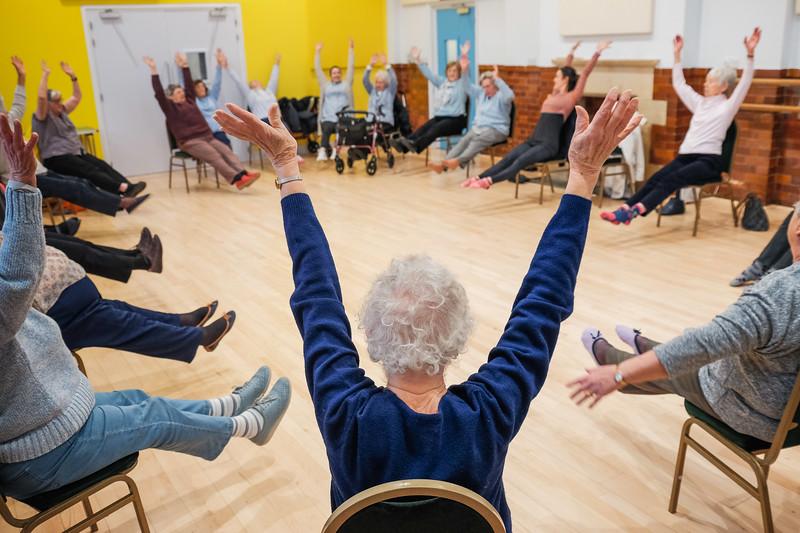 dance lesson for the elderley