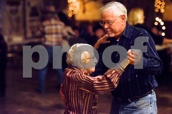 Val Marshall and Mike Haynes dance at Edom City Limits Opry House and Dance Hall in Edom, Texas, on Tuesday, Nov. 7, 2017. The dance hall has hosted live music and two stepping every Tuesday night for seven years, drawing people from all across Northeast Texas. (Chelsea Purgahn/Tyler Morning Telegraph)