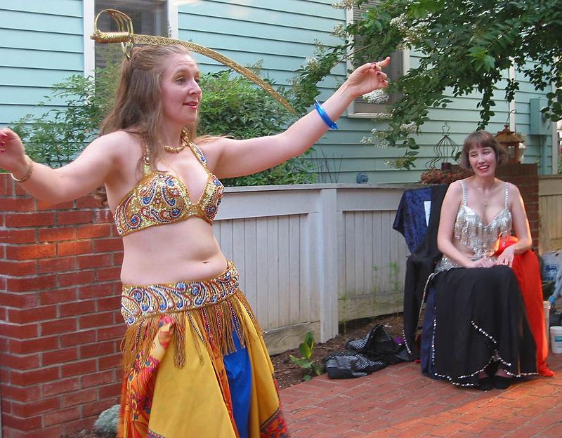 Bedriyyah dancing with balanced sword on her head