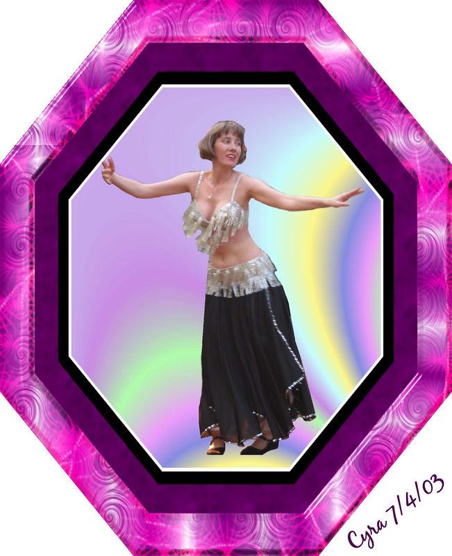 00aFavorite Cyra spinning [bg removed - ArtTexture, purple pinwheels frame, text]