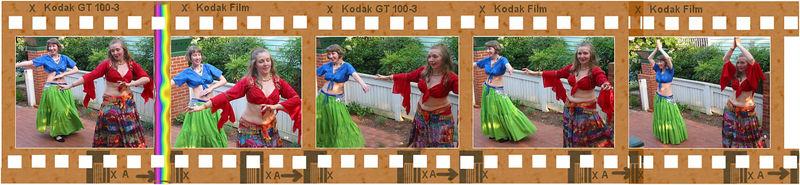 Cyra and Bedriyyah dancing  [5-frame filmstrip, shots 8209-8213 in order]