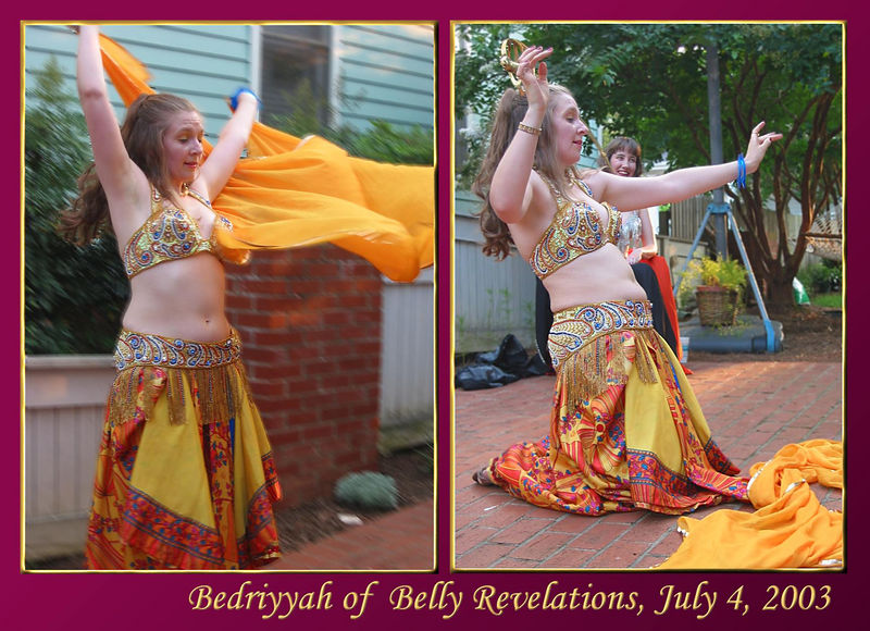 00aFavorite Bedriyyah dancing with shawl [images 8238-8239, bg blurred, borders, gradient fill, text]