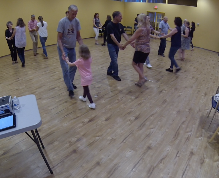 Erik's daughter dancing with a member of the dance community