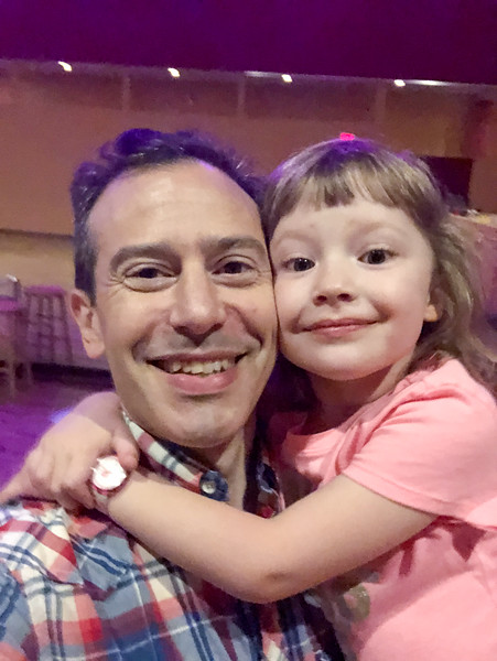 Erik Novoa and his dancing daughter