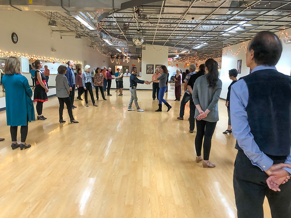 Erik teaching West Coast Swing in Danbury, CT on November 2, 2019