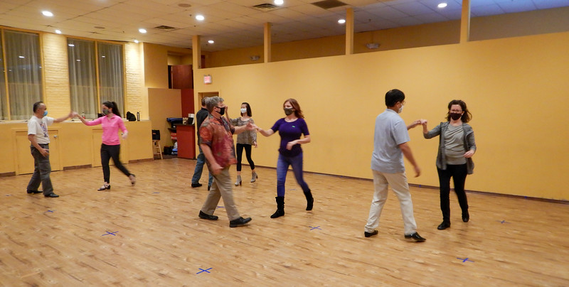 Dancing West Coast Swing with Safety on October 15, 2020