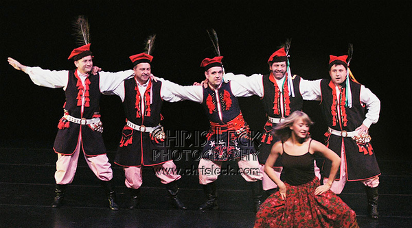 """Folk Dance"" performed by Agnieszka Laska Dancers, Sobotka, and Stan Stanford (cl)."