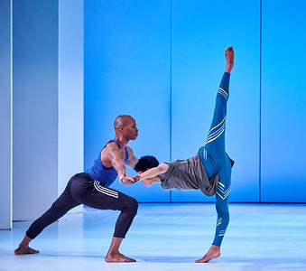 Nov. 18,  2019 - New York, NY   The Guggenheim Museum's Works and Process series presents Alvin Ailey American Dance Theater: Season Preview  review Alvin Ailey American Dance Theater's December season at New York City Center, which includes the world premiere of Ode by Jamar Roberts, Ailey's first resident choreographer. This new work reflects on the beauty and fragility of life in a time of growing gun violence, set to jazz pianist Don Pullen's tribute to Malcolm X, Suite (Sweet) Malcolm. Ailey's acclaimed dancers perform highlights and Artistic Director Robert Battle will participate in a discussion with Roberts, Donald Byrd and Stefanie Batten Bland, Brandon Sterling Baker, Libby Stadstadmoderated by Marina Harss.  Dancers- Jeroboarn Bozeman Chrai DeVore-Stokes Solomon Dumas Jacqueline Green Jacquelin Jarris Michael Jackson Jr. Yannick Lebrun Renaldo Maurice Chalvar Monteiro Danica Paulos  Photographer- Robert Altman Post-production- Robert Altman