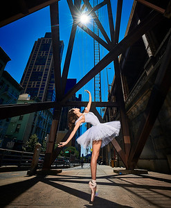 June 23, 2019 - New York, NY  Dancers  Anabel Cazares Kaila Gibson-Okunieff Gabriella Vazquez Tinoco   -captured along New York's East Side  Photographer- Robert Altman Post-production- Robert Altman