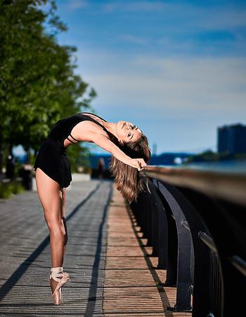 June 23, 2019 - New York, NY  Dancer  Anabel Cazares -captured along New York's East Side  Photographer- Robert Altman Post-production- Robert Altman