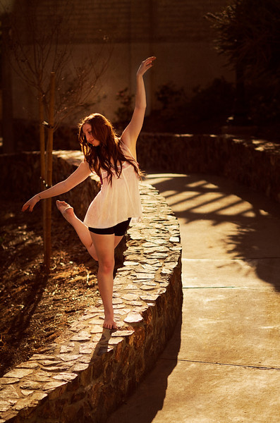 Andy's dance shoot in Balboa park