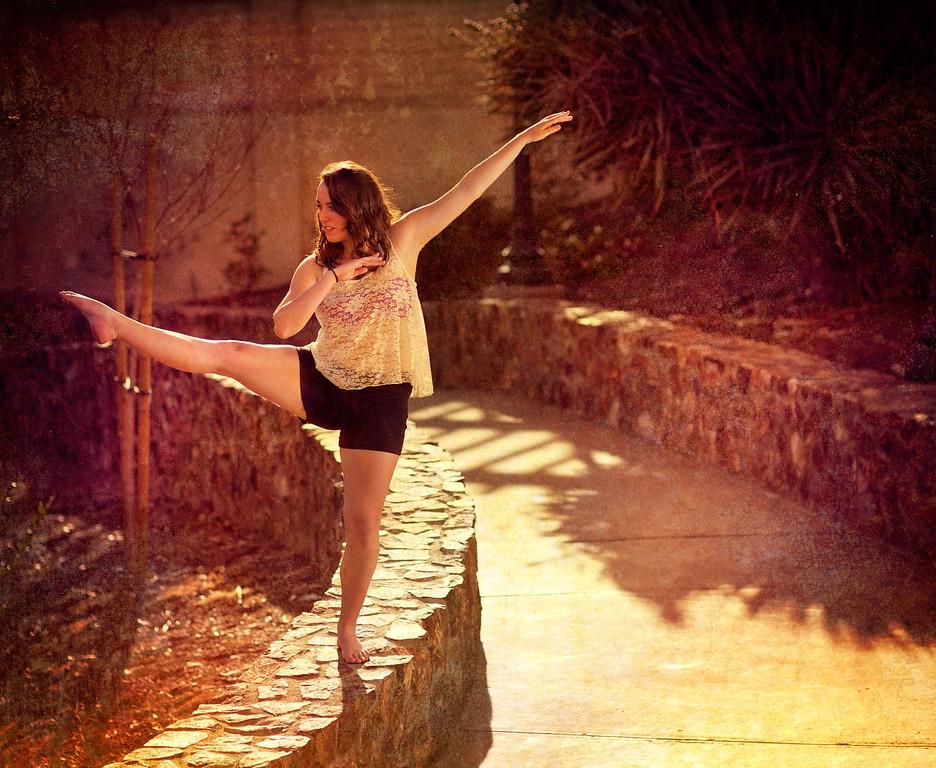 Andy's dance shoot in Balboa park