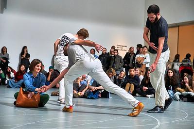 April 1, 2017 - New York, NY - Anne Teresa De Kerrsmaeker Work/Travail/Arbeid performance at MOMA (Museum of Modern Art)  Credit - Robert Altman