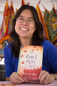 "Julie Wu, author of the novel ""the third son"" about life in Taiwan."