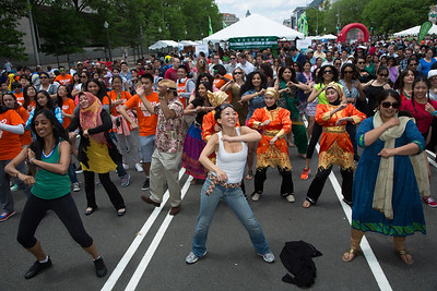 Wuiping Yap conducts Bollywood Flash Mob Dance