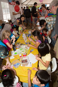 """Kid's Tent"" providing an interactive introduction to Turkey featuring hands-on activities for children of all ages."