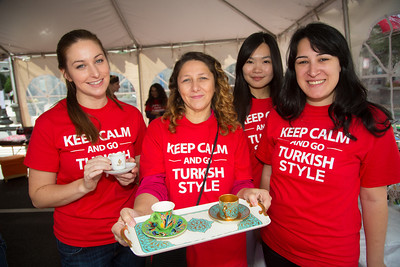 Coffee and Tea Tent (volunteers) Sarah, Serpil, Umi & Ege