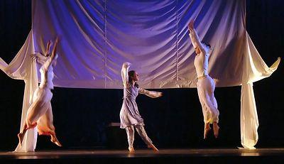 Through the Living Glass L to r: Vienna, Melissa, Lauren