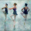 Tip Toe.<br /> Members of the Copenhagen City Ballet.<br /> Photo painted with digital impressionist chal brush in Corel Painter + texture layers.