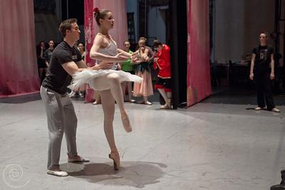 Ballet Wichita 2013 Nutcracker, Snow Rehearsal