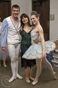 Ballet Wichita 2013 Nutcracker, Green Room with Miss Jill!