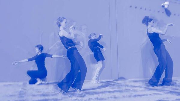 blue moments: movement sketchbook