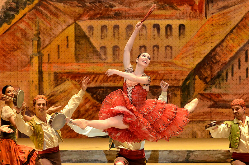 Mike McMahon - The Record/The Saratogian, Principal dancer Maria Alexandrova with the Bolshoi Ballet performs  Don Quixote at SPAC, Saratoga Springs ,  Saturday July 29, 2014