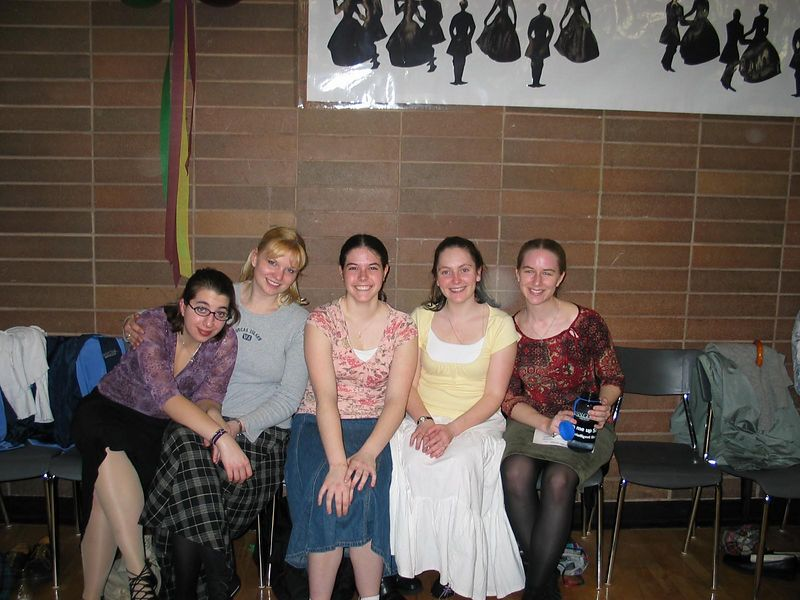 All of us from WWU (excepting Tom and Rosemary)   Emily, Heather, Caitlyn, Maureen and Deborah.
