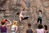 Aerial Dancing, Crested Butte Center for the Arts (CFTA) at Hartman Rocks on the Tiger Wall near Gunnison, Colo. on Saturday, June 30, 2012. (Photo/Nathan Bilow)