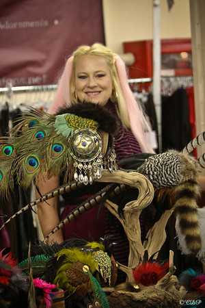 """Daniella White from """"The Plumed Serpent"""" You can purchase these amazing headdresses from www.theplumedserpent.net"""