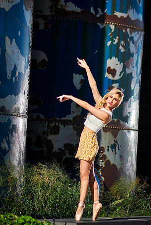 August 29, 2019 - New York, NY   Dancer Claudia Villanueva in Williamsburg Brooklyn NYC  Wearing  Danz n Motion  Photographer- Robert Altman Post-production- Robert Altman