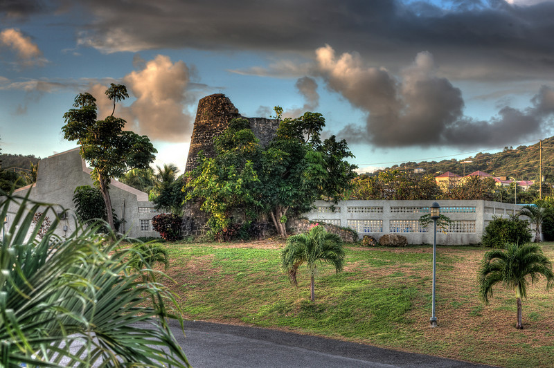 This a photo from the morning of the last day of the Tropical Dance Vacation 2011.  It rained that morning and this is an early morning HDR (High Dynamic Range) rendering of the Sugar Beach pool facility.