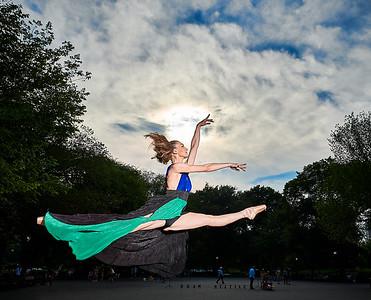June 28, 2019 - New York, NY   Dancer Cristiana Lucifora in New York's Central Park  Photographer- Robert Altman Post-production- Robert Altman